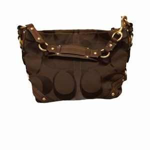 Coach Signature Carly bag in brown